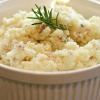 Truffled Mashed Potatoes with Prosciutto and Rosemary