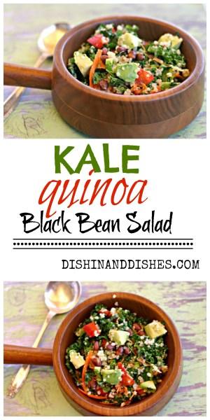 kale avocado quinoa black bean salad recipe