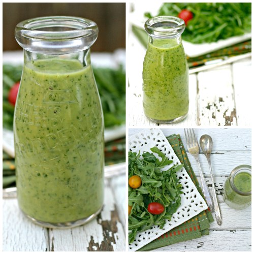 Avocado Citrus Salad Dressing Collage