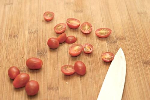slice cherry tomatoes