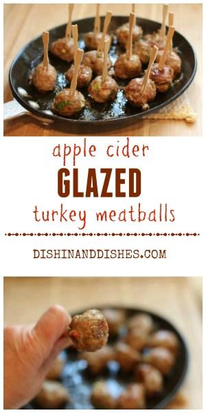 Apple Cider Glazed Turkey Meatballs