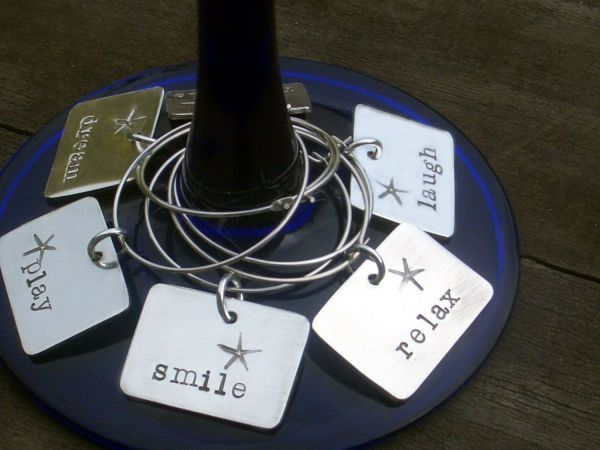 Sterling wine charms