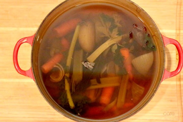 homemade vegetable broth