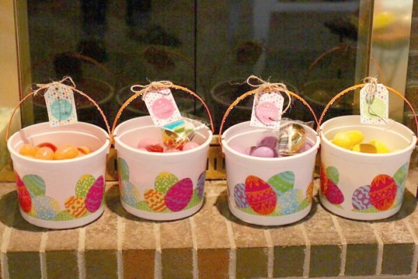 Easter Egg baskets color coded