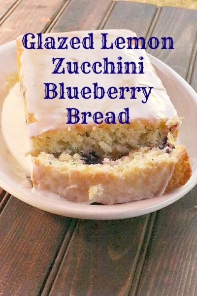 Glazed Lemon Zucchini Blueberry Bread