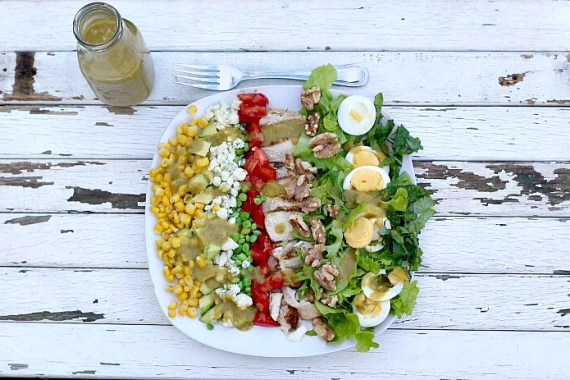 Cobb Salad with Roasted Onion Vinaigrette
