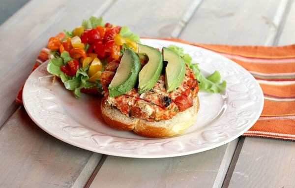 Salmon Burgers with Hatch Chile Recipe