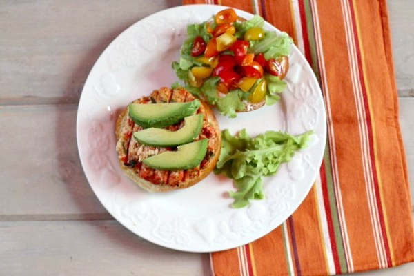 Whole food Salmon Burger recipe with Hatch Chiles