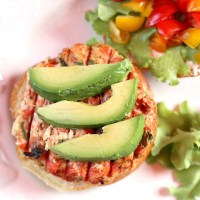 Southwest Hatch Chile Salmon Burgers