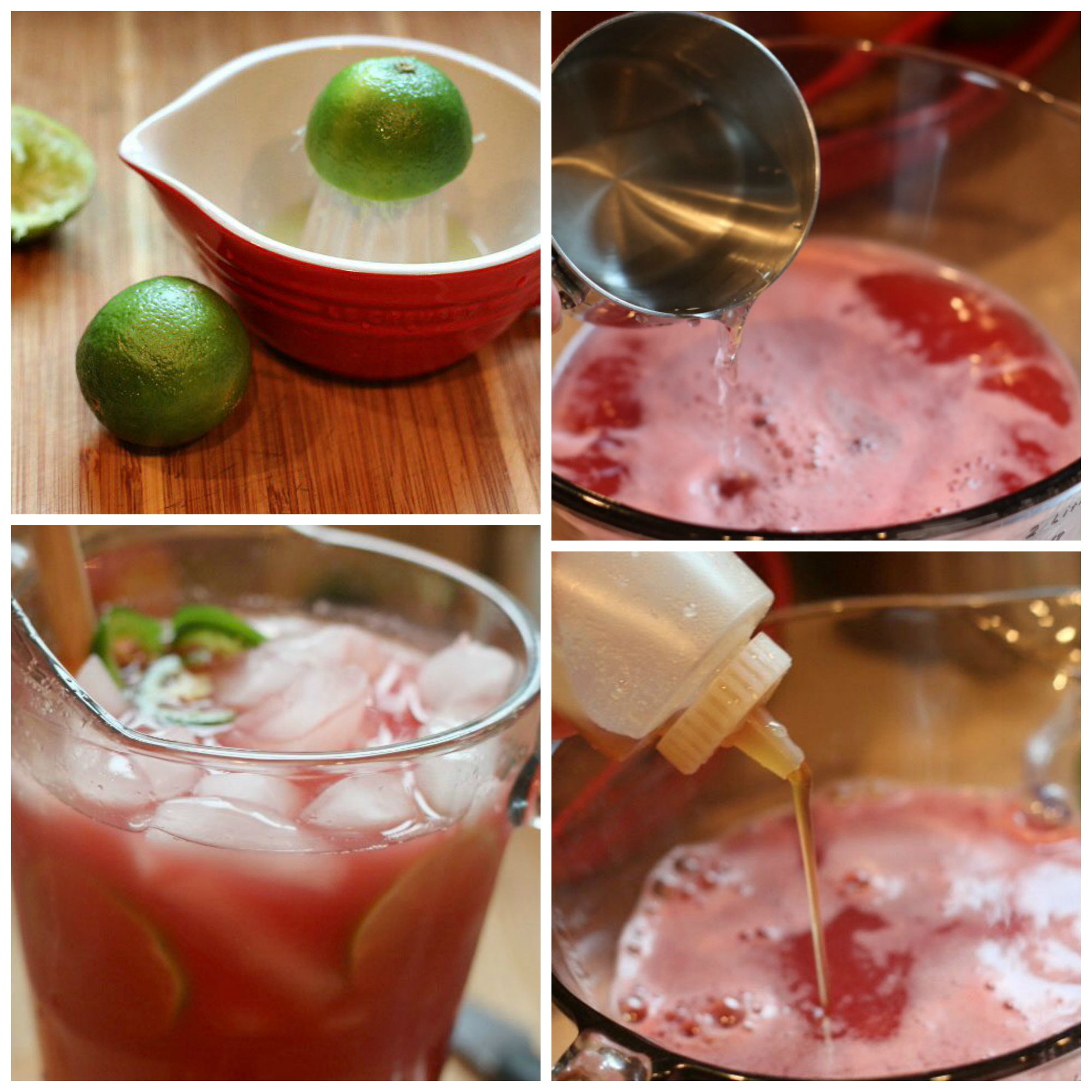watermelon agua fresca collage