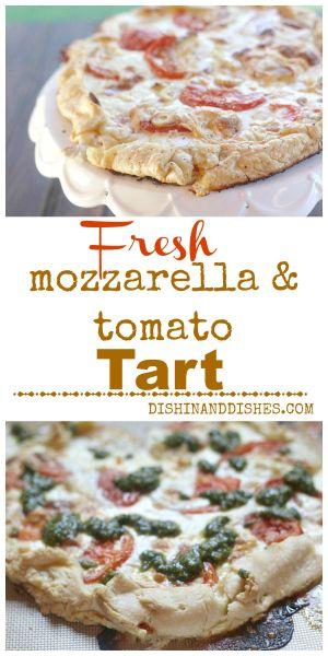 Fresh Mozzarella Tomato Roasted Garlic Tart 2