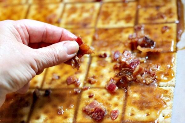 Sprinkle bacon on bacon crack