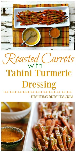 imager lasted carrots with tahini turmeric dressing