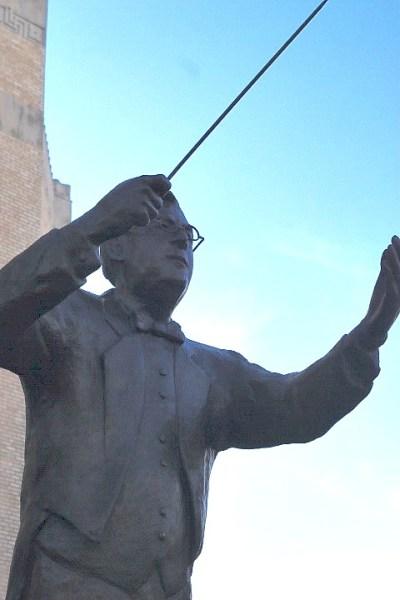 OKC Civic Center The Conductor statue