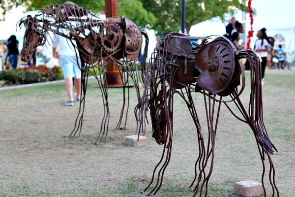 metal sculpture okc arts festival