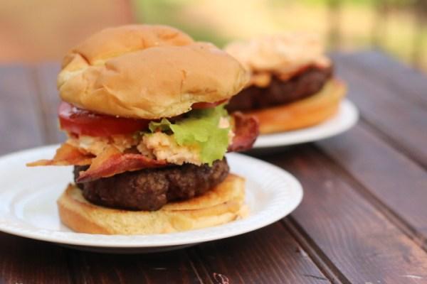 Pimento Cheese Bacon Burger single