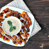 Bacon Wrapped Butternut Squash Wedges