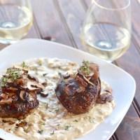 Filet Mignon with Mushrooms and Mustard Cream Sauce
