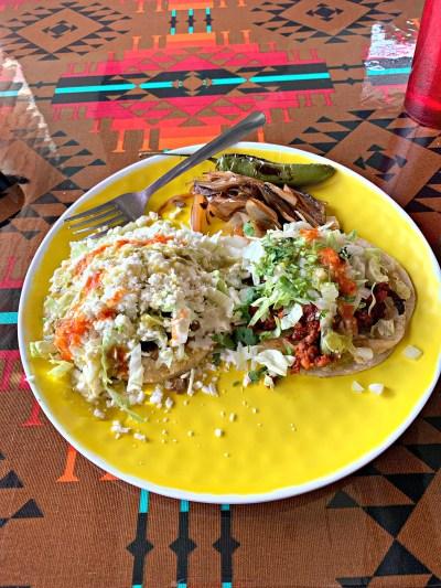 Sopes al pastor tacos Tacos Chilo's OKC