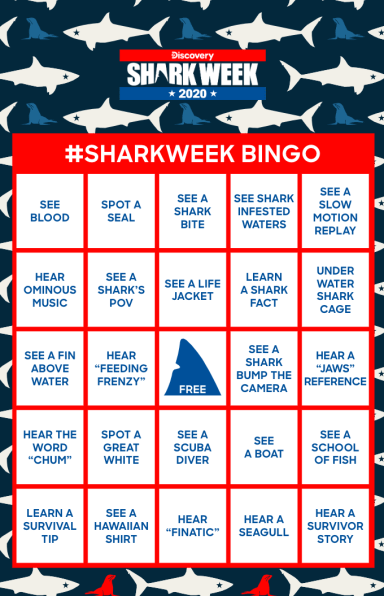 Shark Week Bingo Card