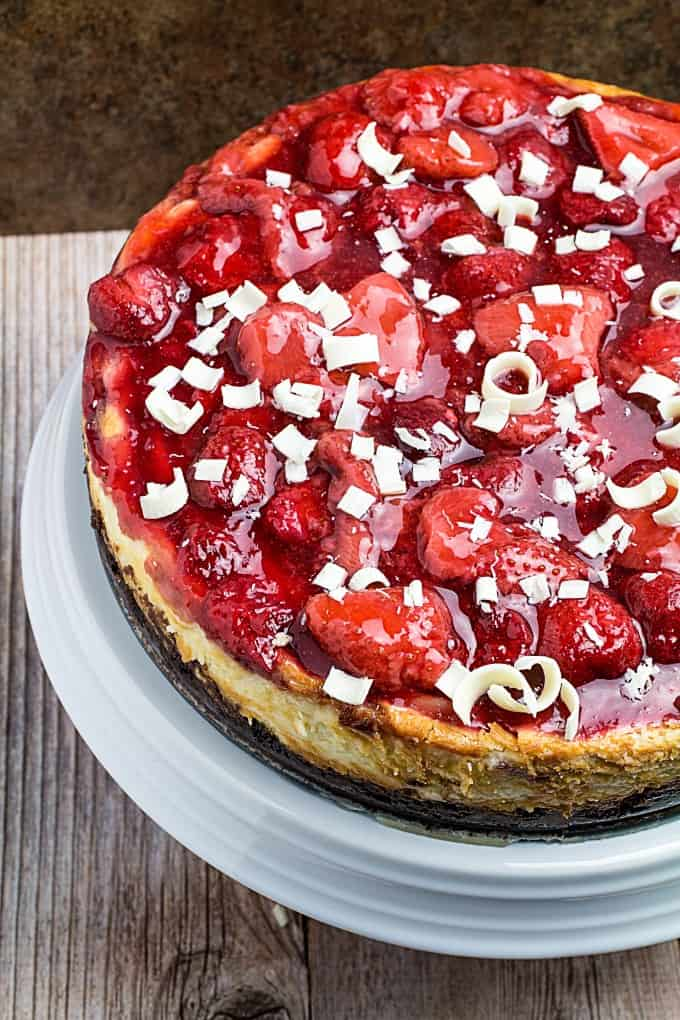 White Chocolate Strawberry Cheesecake Recipe
