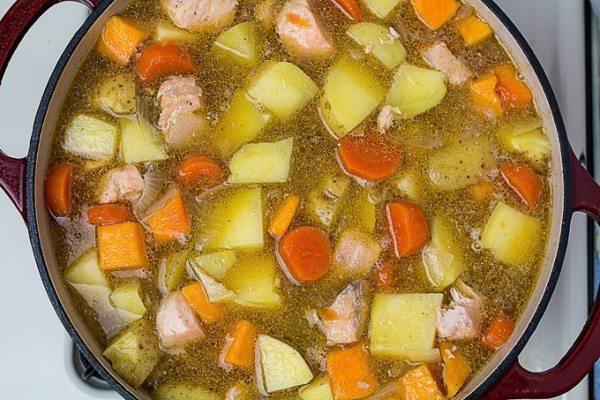 Miso Salmon & Vegetable Stew