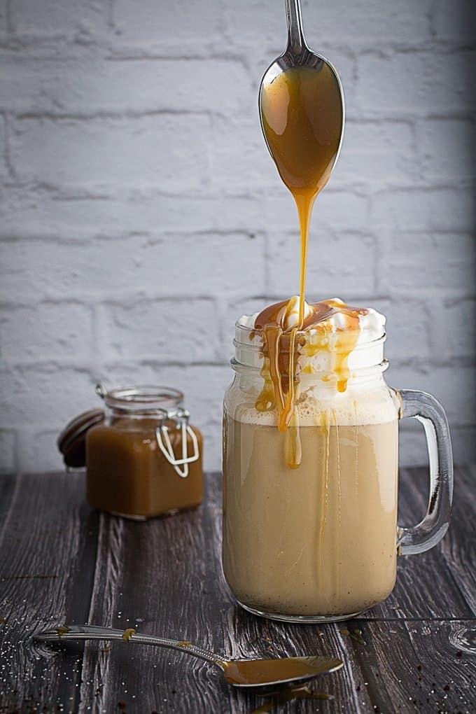 Salted Caramel Frappuccino Milkshake