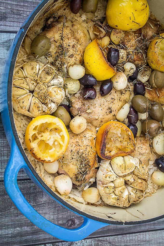 one pot greek lemon chicken with rice