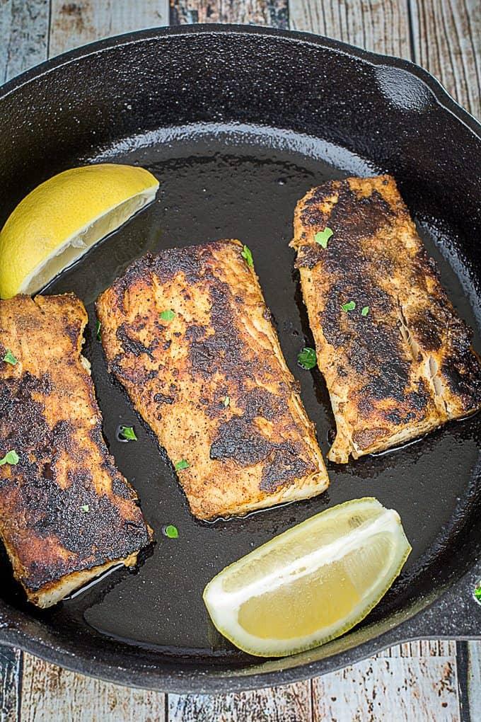 Blackened Mahi Mahi & cajun spice rub