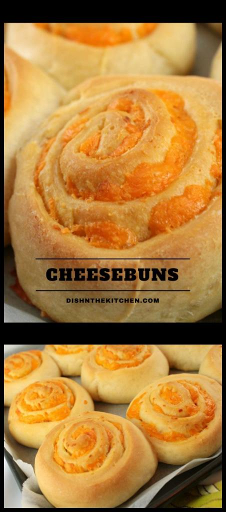 A tried and true recipe for the softest, cheesiest buns EVER. #Cheesebuns #baking #cheddar #lunchideas