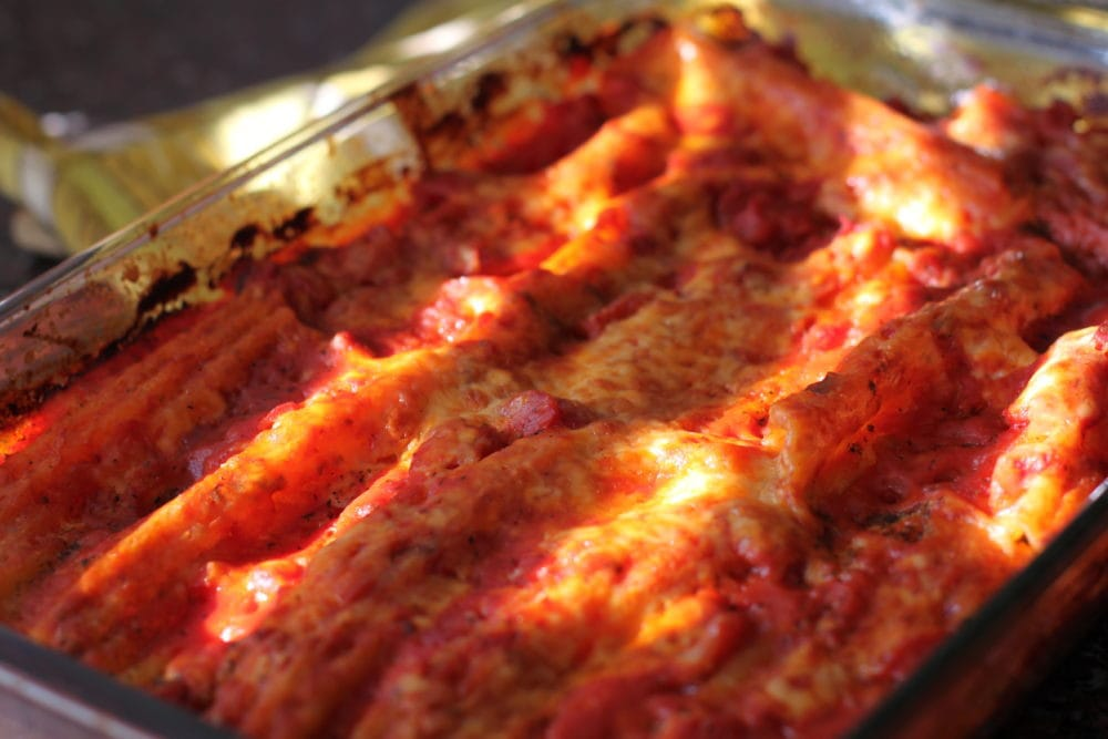 Baked Cheese Filled Manicotti