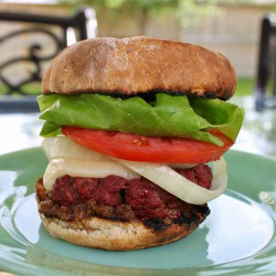 The Ultimate Backyard Smoked Bison Burgers for your hot summer night barbecue #barbecue #smokedburger #bisonburger #burger