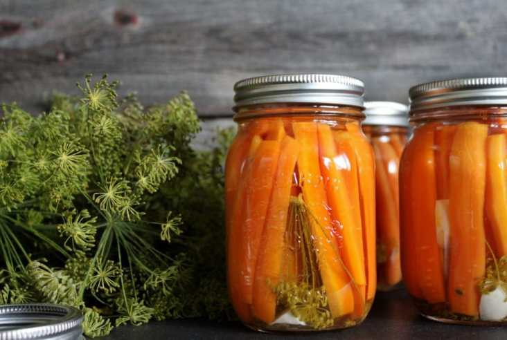 Small batch canning is easier than you think. Follow my simple steps and make your own Dill-icious Pickled Carrots with Dill and Garlic #pickledcarrots #pickling #preserving #canning #carrots