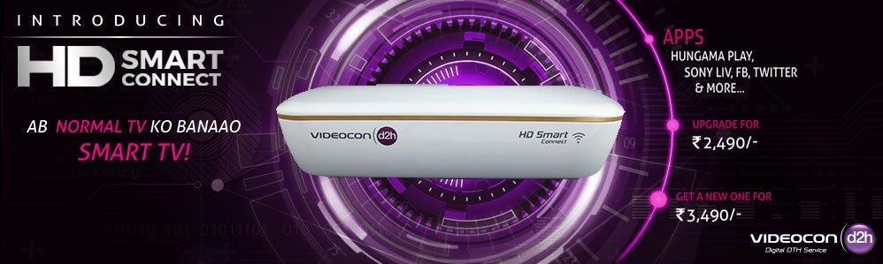 Videocon D2H HD Smart connect set top box