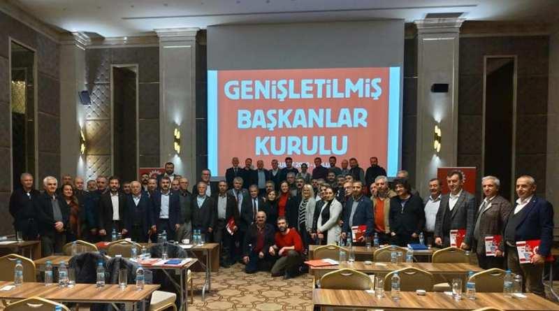 """""""2020'lerin DİSK'i ve Emeğin Türkiye'si için Omuz Omuza"""""""