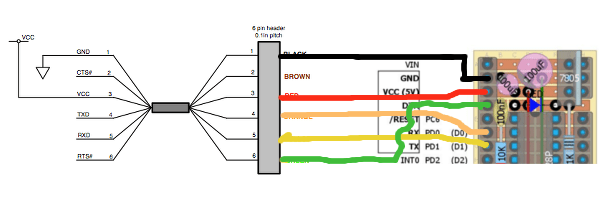 FTDI AtMega328p (Yabbas) cable