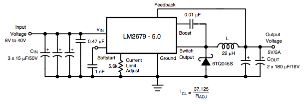 lm2679 switching regulator circuit