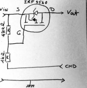 arduino power control cicruit