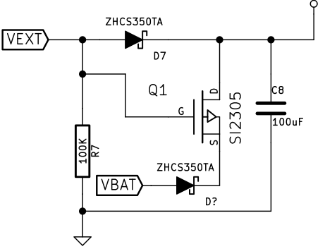 Battery switching circuit