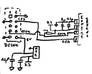 Interface to connect an EFM8BB SOIC 16 to debug port