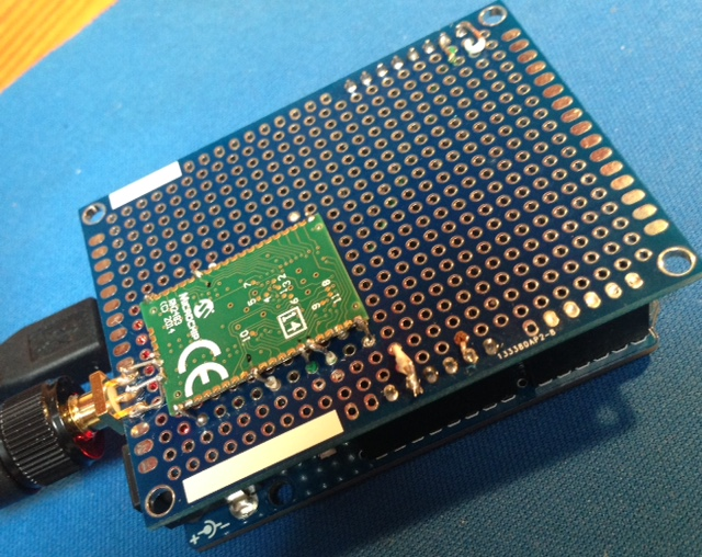 First step in LoRa land - microchip RN2483 test - disk91 com