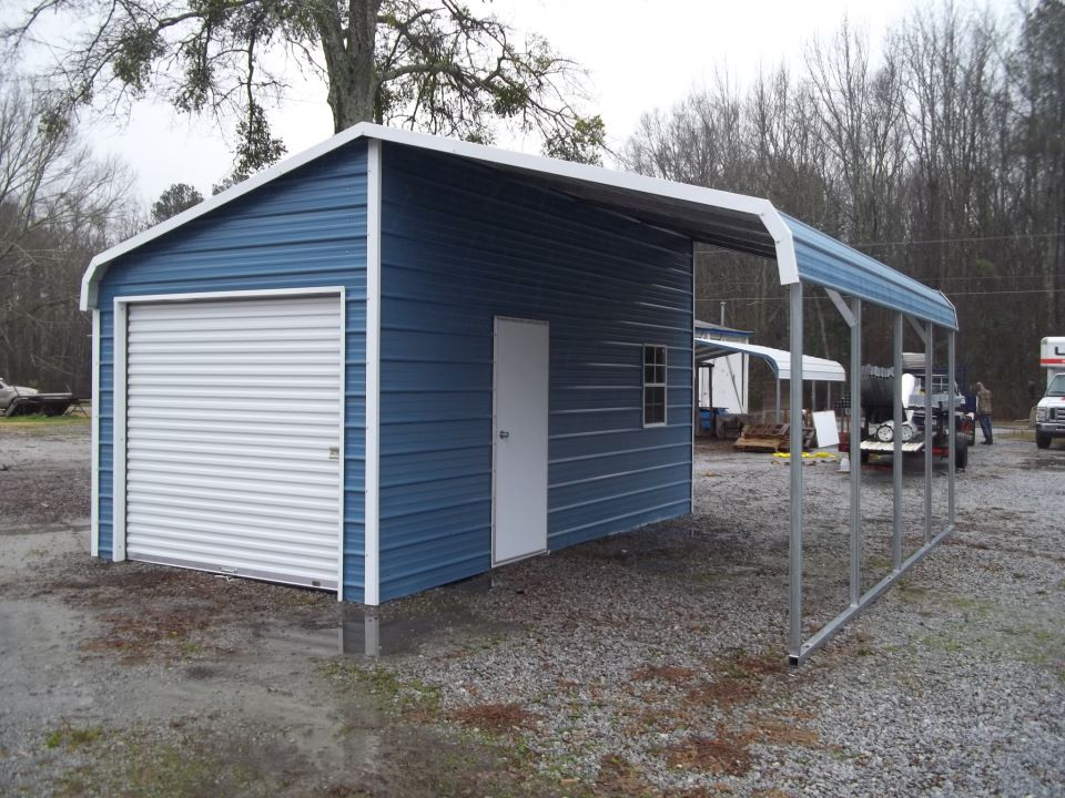 Garage Carport Kombination Carport And Garage Combo Units Garage Buildings Garage And Carport