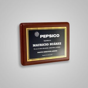 Placa Conmemorativa Pepsico