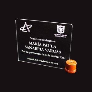 Placa Conmemorativa Alcaldía