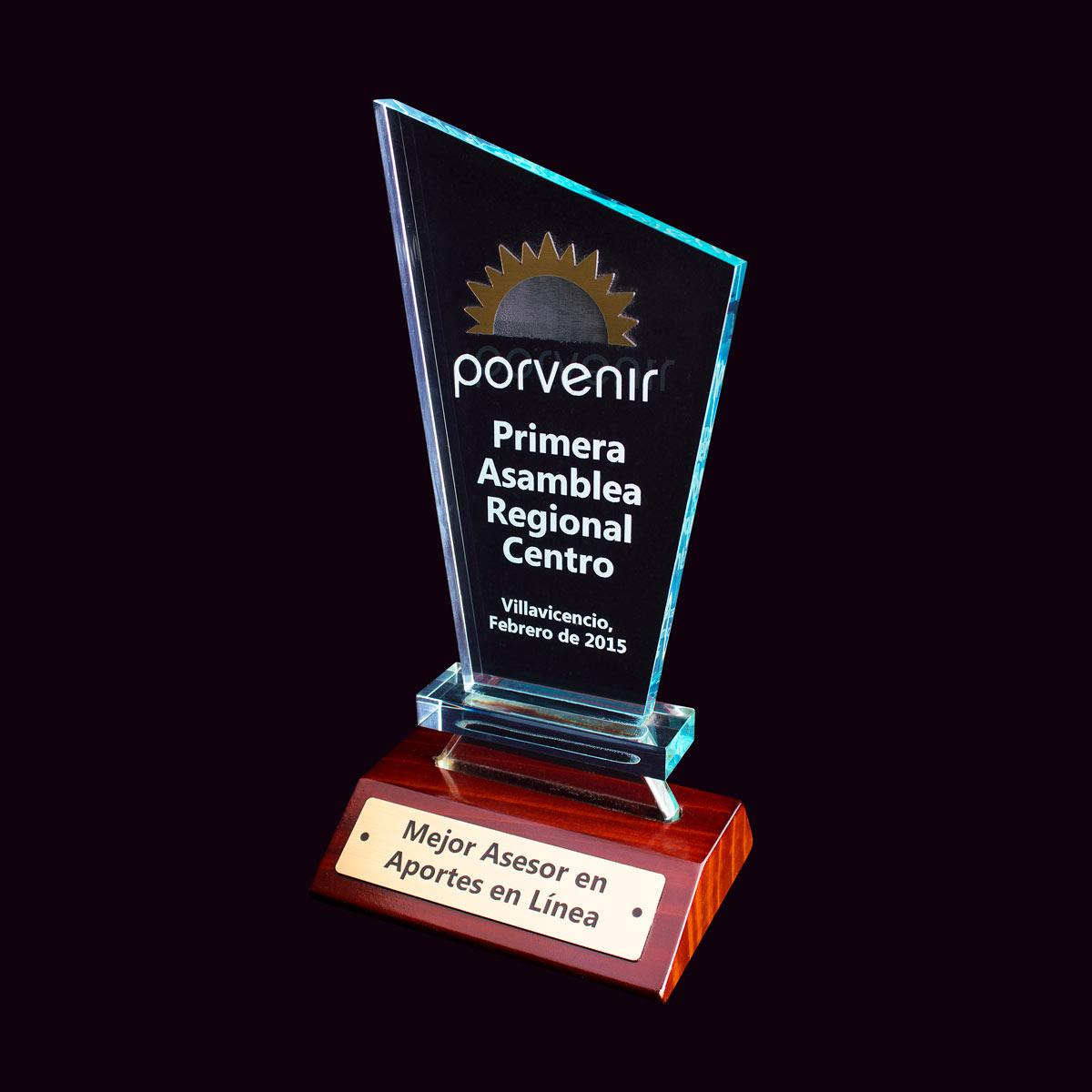 Placa Reconocimiento Trofeo Porvenir