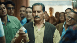 mustached man holding an aerosol can, the myth of folk