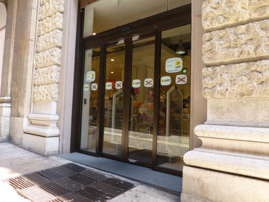 upim via mazzini verona entrata laterale senza barriere architettoniche