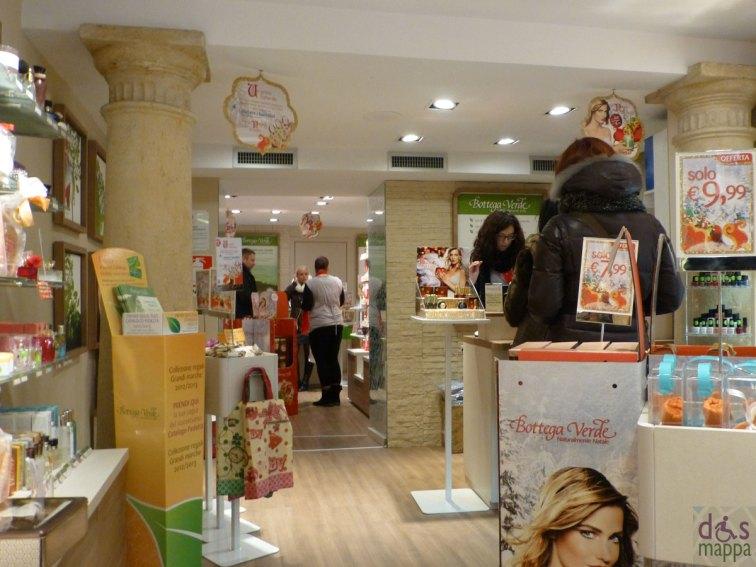 bottega verde verona scheda accessibilità negozio via cappello