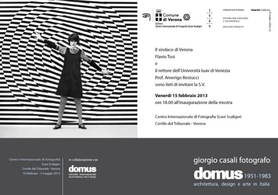 Invito inaugurazione motra fotografica Giorgio Casali Domus a Verona