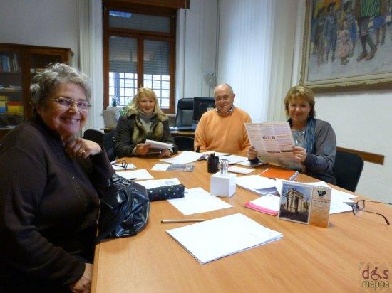 Cinzia Albertini (Cultura delle differenze Pari Opportuntà Comune di Verona), Franco Crosara e Gabriella Fermanti (GALM), Gina Sussa (AIED)